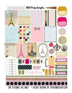 My Planner Envy: Paris Sampler - Free Planner Printable