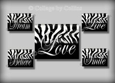 Hey, I found this really awesome Etsy listing at http://www.etsy.com/listing/156685392/5-black-zebra-print-smile-dream-live