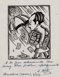 Agustin Munoz Arrojo, 1947, Ercolini Bookplate Collection