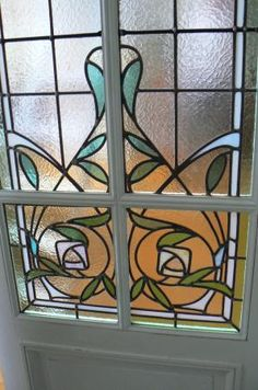 porte vitraux 1920 #glass-art