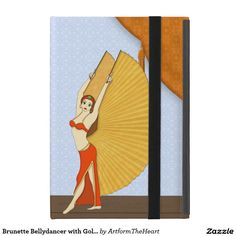 Brunette #Bellydancer with Gold #Isis #Wings #iPad Mini Cases