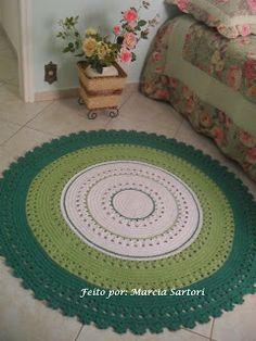 marcia sartori crochetando: Tapete Tons Verde