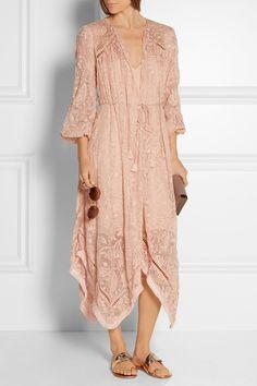 Zimmermann | Henna asymmetric embroidered silk dress | NET-A-PORTER.COM