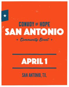 San Antonio Community Event poster.