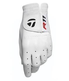 TaylorMade Men's R11 Glove, White/Red (Medium, Left Hand) by TaylorMade. $12.98. This R11 left hand gloves offers great fit adjustment with its elastic strap closure system. The R11 glove's AAA cabretta leather provides superior feel, but adds durability along with signature adjustability. Thin yet highly durable AAA Cabretta leather for exceptional feel. Elastomer performance fit closure offers custom fit capability. Black ion interior cuff wicks moisture, ...