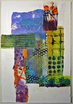 """I spent a few days last week painting papers, and earlier this week I made eight small collage studies using those papers. The collages are x 11 inches, on watercolor paper. The studies aren't finished pieces, they're just play. Paper Collage Art, Collage Art Mixed Media, Paper Art, Collage Artwork, Painting Collage, Canvas Paper, Pinterest Pinturas, Creation Art, Gelli Arts"