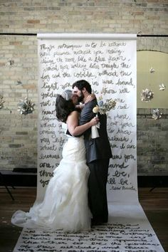 This backdrop can serve both at the ceremony and the photo booth. #photobooth