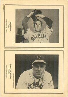 1946-49 W603 Sports Exchange #1-12 Gene Bearden / Dale Mitchell Front
