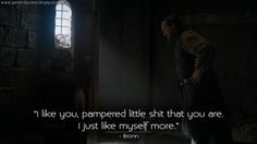 #GameofThrones #Bronn: I like you...#GameofThronesQuotes #GoTSeason4 #Mockingbird #GoTquotes http://gameofquotes.blogspot.com/2014/05/i-like-you-pampered-little-shit-that.html … pic.twitter.com/cj6GbR4WEA