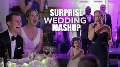Matron of Honor completely surprises the bride & groom with a pop music mashup detailing the bride's life.