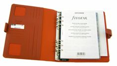 Filofax A5 Graphic Burnt Orange 10 1/8 X 7 5/8 with six 1 1/4 rings