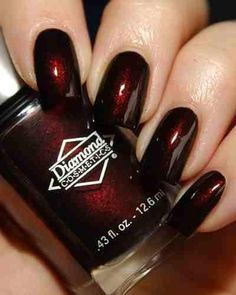 I Want This Color Nail Polish Diamond Cosmetics Cherry Fancy Nails, Love Nails, How To Do Nails, My Nails, Red Nail Designs, Colorful Nail Designs, Art Designs, Nails Polish, Nail Polish Colors