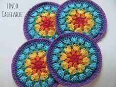 Mandala 7 Chakras - Tejido Al Crochet