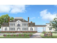 063H-0225: Luxurious Southern House Plan; 5353 sf