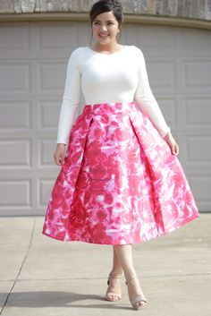Red Roses Water Color Skirt