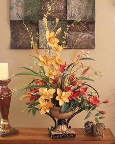 Caribbean Orchid Silk Floral Arrangement