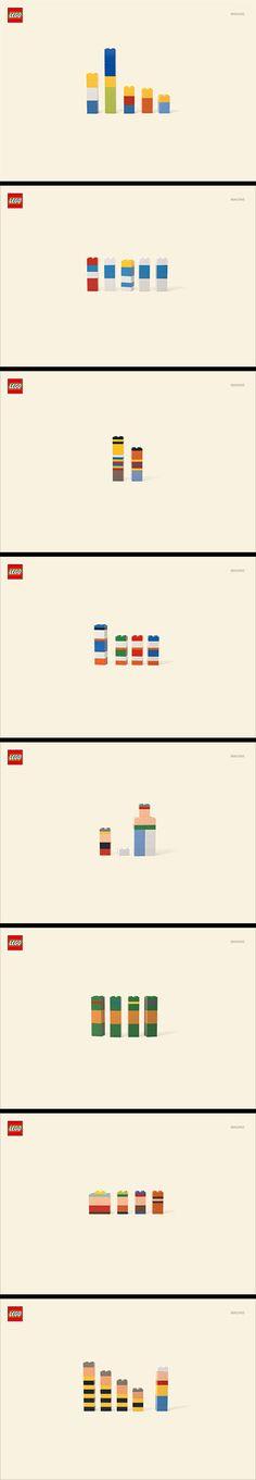 LEGO minimalist Imagine campaign.