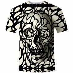 T-Shirts. New Design Skull Print Mens tshirt Fashion 3D T-Shirt Summer Short Sleeve Casual Breathable Tops Tee Plus Size 5XL T shirt Homme. #T-Shirts