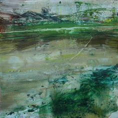 El lago.Mixta/papel.30x30 cms