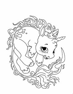 cute unicorn coloring pages - Lisa Frank Coloring Pages Unicorn