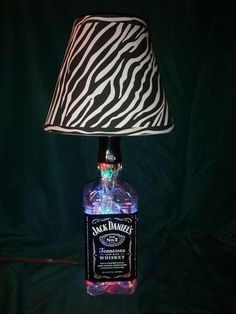 Whiskey Bottle Lamps | Jack Daniels Whiskey Bottle Lamp with LED's by Mysticcreations11, $54 ...