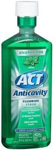 ACT Anticavity Fluoride Rinse Mouthwash, Mint, Alcohol Free, 18-Ounce Bottle (Pack of 6 ) by ACT. $31.81. Prevent cavities and strengthens teeth. Reduces tooth decay. Aids in the prevention of dental cavities. Comes in pack of 6. Freshens breath. Act anticavity fluoride rinse mouthwash, mint, alcohol free, 18-ounce bottle helps prevent cavities, strengthens teeth and freshens breath. The product is effective in helping to prevent or reduce tooth decay, when used as directed....