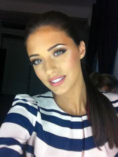 Blue eyes and natural lips