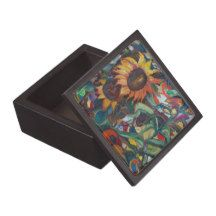 The Sunflower Garden Keepsake Box with original art by Avonelle Kelsey