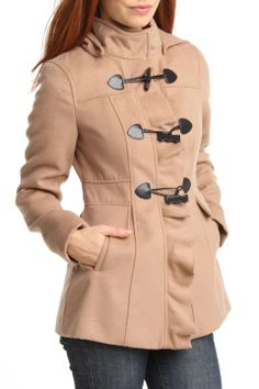 Ruffle Toggle Hooded Coat