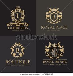 Luxury logo collection,Design for Boutique hotel,Resort,Restaurant, Royalty, Victorian identity, Hotel, Heraldic, Fashion,VIP,Club,education logo Full vector logo template.