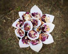 Paper Cones for Throwing Petals