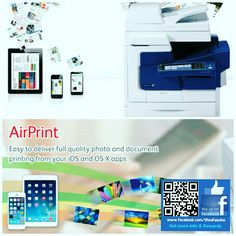 An iOS, AirPrint-enabled applications can print to an AirPrint-enabled printer - and you don't need to install a driver or configure the printer queue.