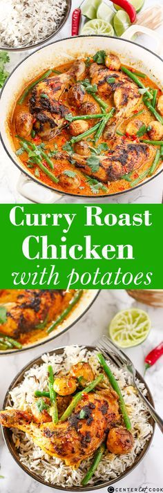 A delicious Thai-style CURRY with SPICE-ROASTED CHICKEN and potatoes.