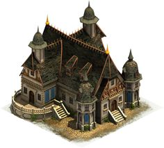 palace medieval fantasy buildings castle concept village middle ages file town ss houses forge empires age late game artwork artstation