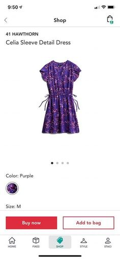 Cute for summer Stitch Fix Dress, Detail, Purple, My Style, Cute, Sleeves, Stuff To Buy, Color, Shopping
