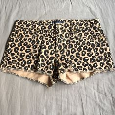 Leopard print juicy couture shorts EUC, wore once to a concert so no signs of wear, damage, rips or stains. Super soft material with some stretch. 90% cotton, 8% polyester & 2% elastine. Quality juicy couture product from retail store  Juicy Couture Shorts