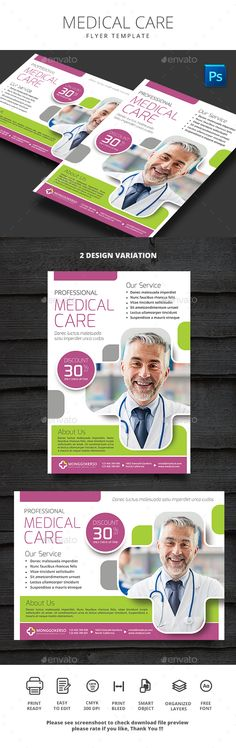 #Medical #Care - #Flyers Print Templates