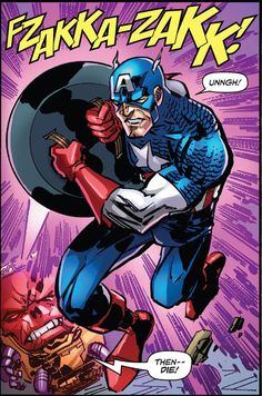 Captain  America The End FZAKKA-ZAKK! Captain America Villains, Sound Effects, Comic Books, Marvel, Comics, Comic Strips, Comic Book, Cartoons, Cartoons