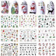 Full Beauty 1 Sets Nail Art Slider Stickers Christmas Santa Clause Adhesive Transfer Decal Winter Manicure Tips Nail Art Stickers, Nail Decals, Manicure Tips, Diy Nails, Christmas Stickers, Christmas Nails, Wholesale Nail Supplies, Gel Polish Colors, Nail Art Supplies