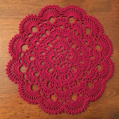 8-Inch New Crocheted Doily  Burgundy by MelobabyDesigns on Etsy
