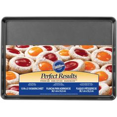 To bake your favorite food to perfection, start with Perfect Results Premium Non-Stick Bakeware. These pans feel noticeably heavier than most comparable brands, assuring you that Perfect Results Premium Non-Stick Bakeware will heat evenly for years of baking perfection.