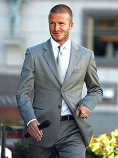 Well groomed David Beckham( people.com)
