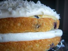 Blueberry Coconut Cloud Cake