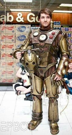 Steampunk suit Very cool!!  Nice Steampunk cyberman.  :)
