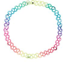 Monsoon Neon Ombre Woven Plastic Choker Necklace ($3) ❤ liked on Polyvore featuring jewelry, necklaces, accessories, choker, tattoo jewelry, cocktail jewelry, neon necklace, plastic choker and tattoo choker necklace