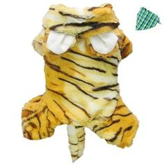 Petparty Cute Tiger Costumes for Dog Clothes Pet Dog Jumpsuit Coat