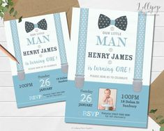 LITTLE MAN BOWTIE INVITATION 1ST FIRST BIRTHDAY PARTY INVITE BOYS CARD ANY AGE  #Unbranded #Birthday First Birthday Parties, First Birthdays, Birthday Ideas, Invitation Ideas, Invite, 1st Birthday Invitations, Personalized Invitations, Little Man, Moustache