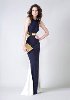 This gown is freak'n gorgeous  Saskia Evening Dress - Stella McCartney ( Formal Spring Summer Fall Long White Blue Synthetic-blend Evening dress Sleeveless)