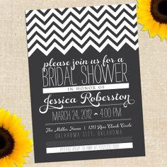 Chalkboard Bridal Shower Invitation