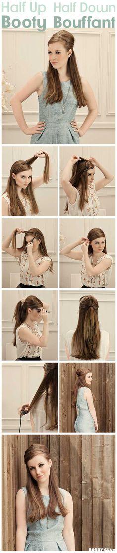 Easy elegant hair tutorial for long hair